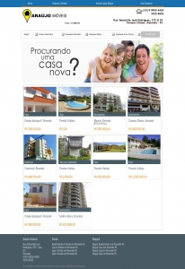 Modelo 3 de Website para Imobiliária e Corretores