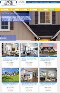 Modelo 4 de Website para Imobiliária e Corretores